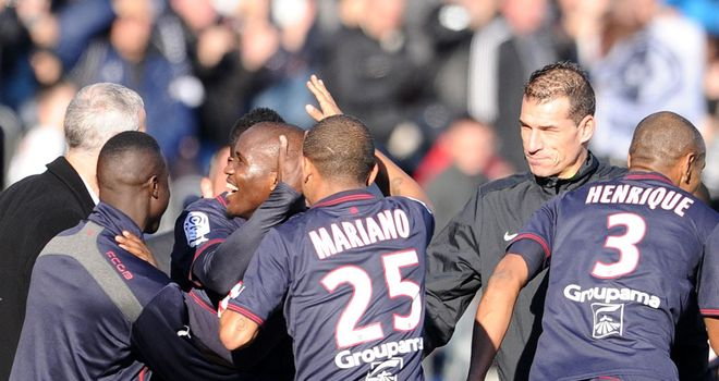 Bordeaux celebrate against Lille