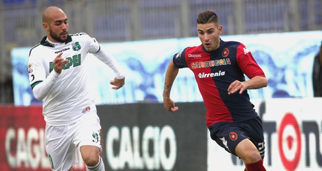 Nicola Murru in action for Cagliari