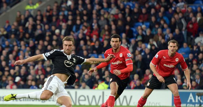 Rickie Lambert: On target against Cardiff City