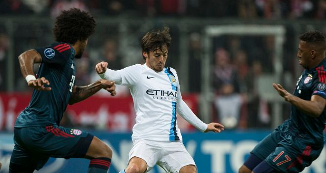 David Silva: Did not misplace a pass in Bayern's half in his 72 minutes on the pitch at the Allianz