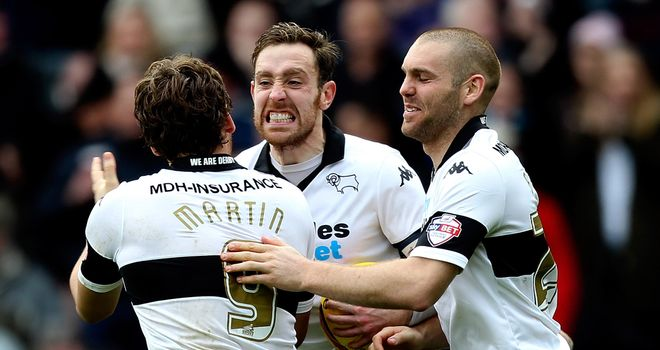 Chris Martin: Scored twice for Derby at Oakwell