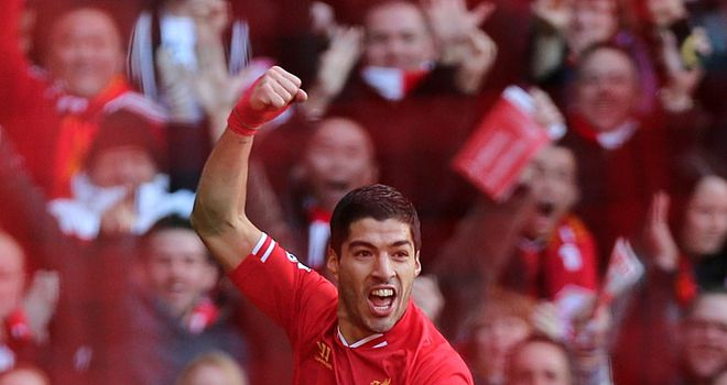 Luis Suarez: In red-hot form for Liverpool