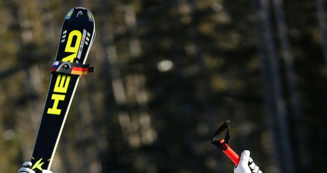 Maria Hofl-Riesch strengthened her position at the top of the World Cup downhill standings