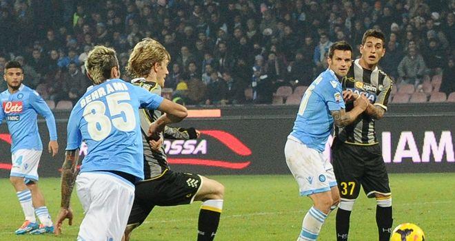 Dusan Basta scores for Udinese.