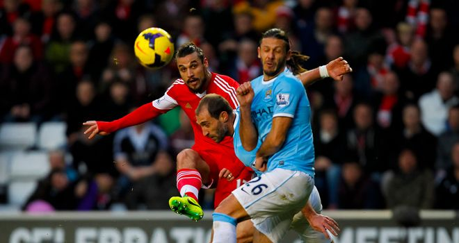 Dani Osvaldo: Scored a stunning goal as Southampton pegged back Manchester City