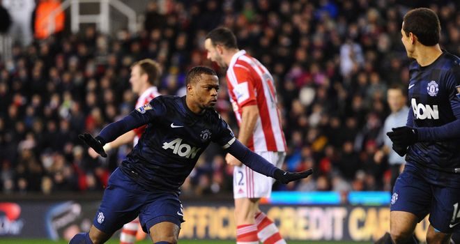 Patrice Evra: Helped to keep Manchester United on the road to Wembley