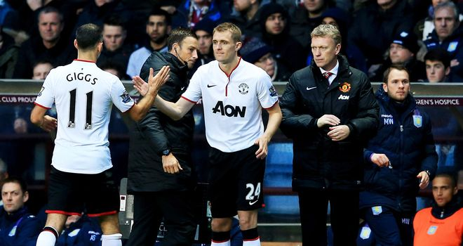 Darren Fletcher: Back in action for Manchester United against Aston Villa