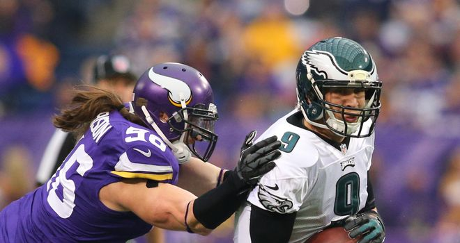 Nick Foles of Philadelphia in a woeful display against Minnesota