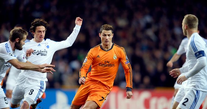 Cristiano Ronaldo: Real Madrid star surges forward against Copenhagen