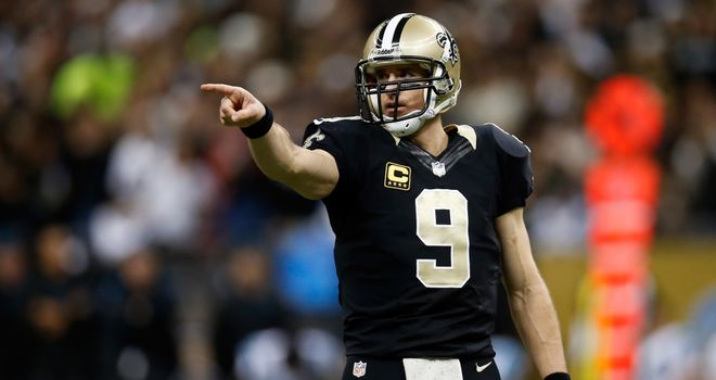 Drew Brees threw four touchdown passes for the New Orleans Saints