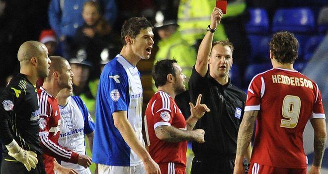 Darius Henderson: Forest striker shown a red card at Birmingham