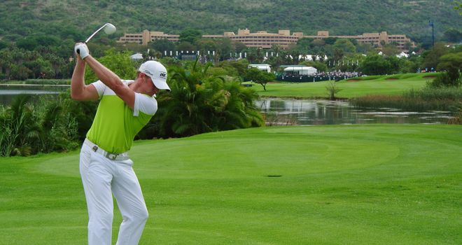 Jamie Donaldson: Three shots clear with one round of Nedbank Golf Challenge remaining