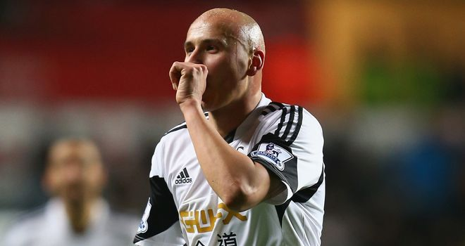 Jonjo Shelvey: On target for Swansea