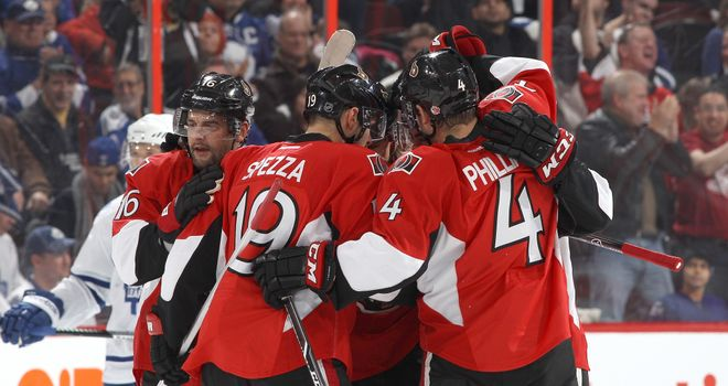 The Ottawa Senators overcame the Philadelphia Flyers