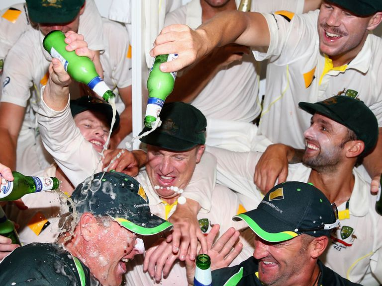 Australia celebrate regaining the Ashes