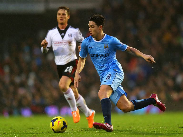 Samir Nasri: Back in full training with Man City