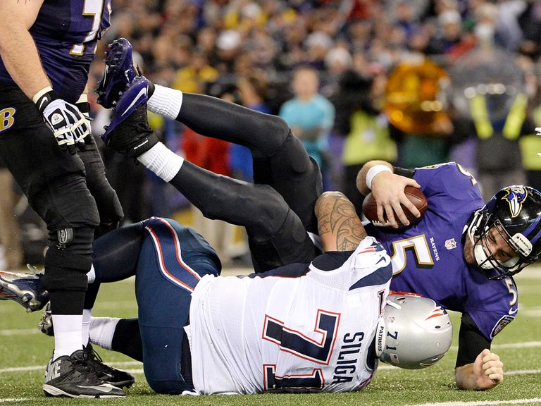 It was a rough night for Joe Flacco and Baltimore