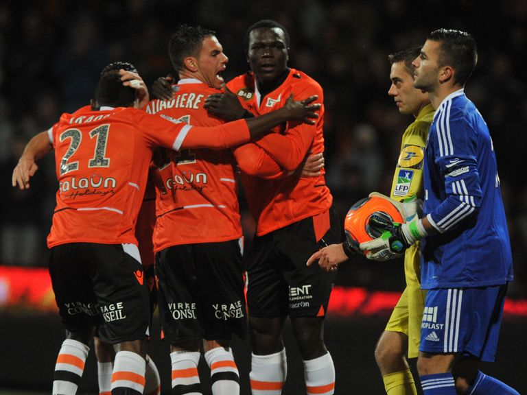 Lorient snatched a late equaliser against Lyon