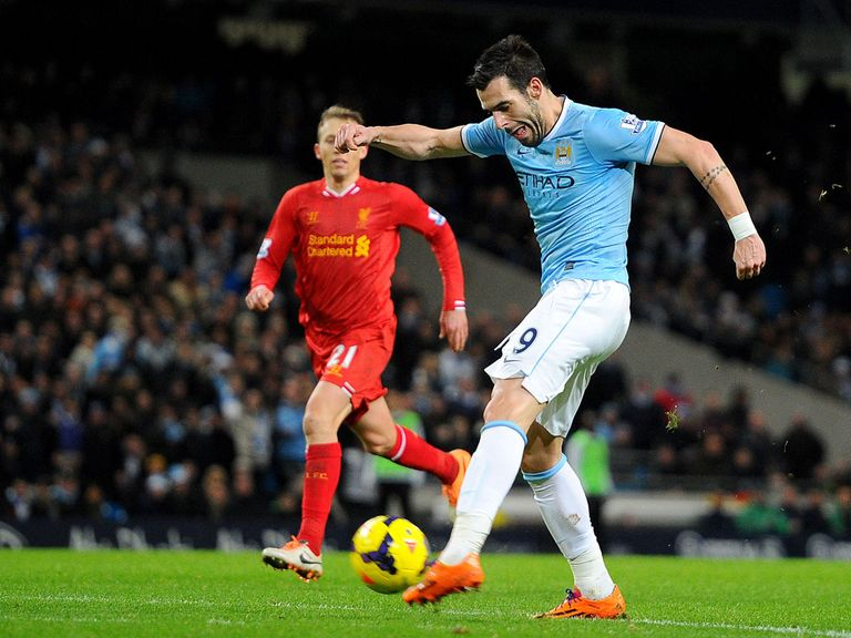 Alvaro Negredo fires Manchester City into a 2-1 lead