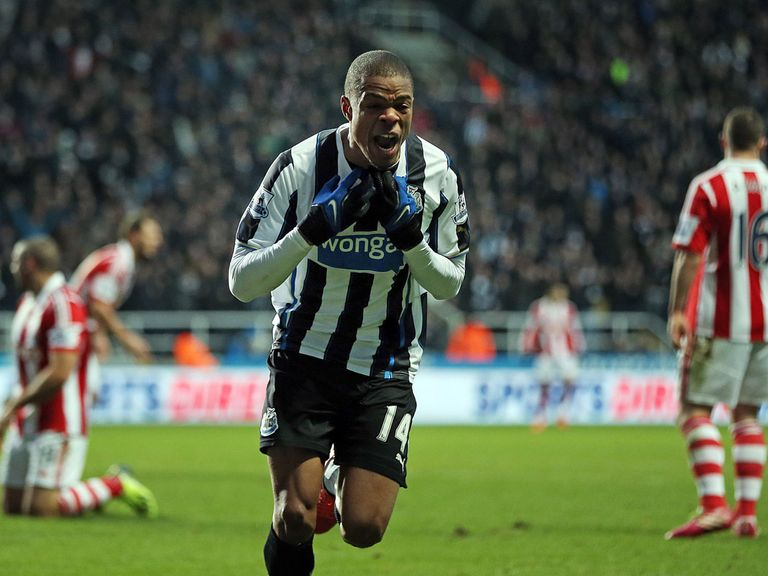 Loic Remy: Celebrates after finding the net against Stoke