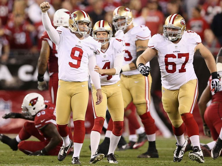 Phil Dawson celebrates his winning field goal