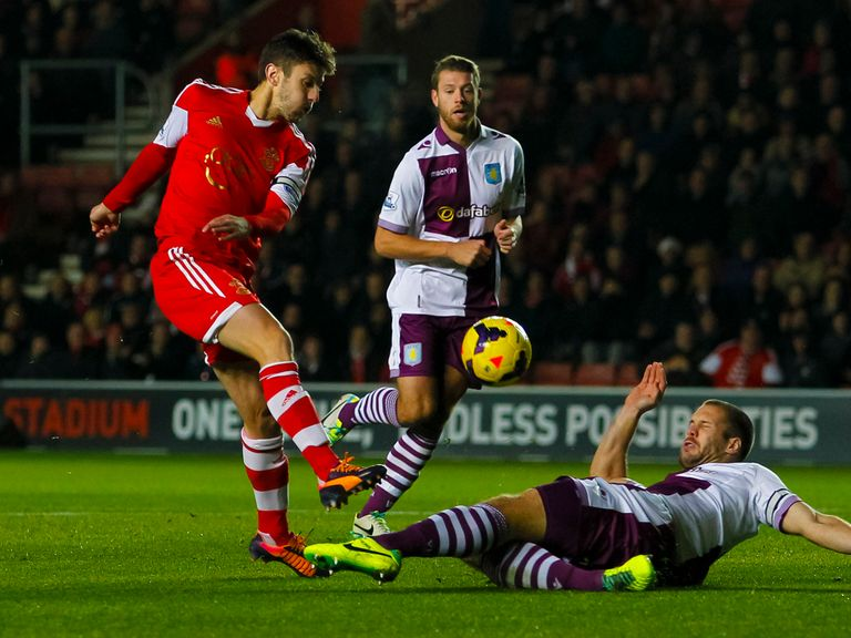 Adam Lallana: Felt Southampton deserved more from Villa game