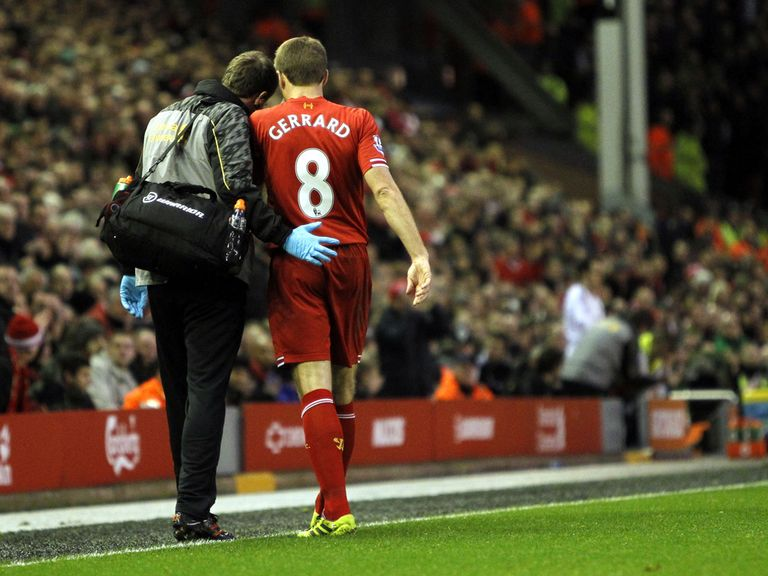 Steven Gerrard: Will be assessed after picking up a hamstring injury