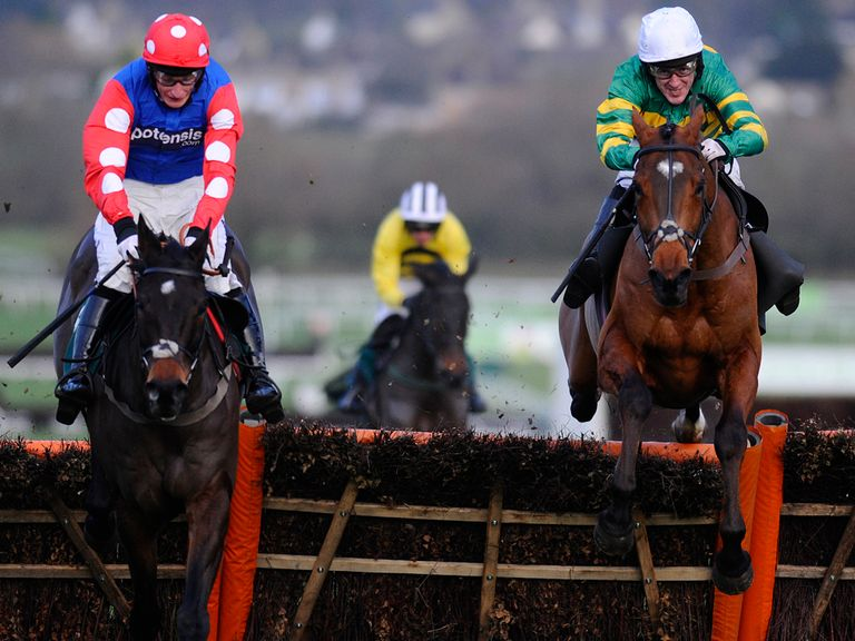 More Of That (right): Could be World Hurdle standard after his cheeky Relkeel win?