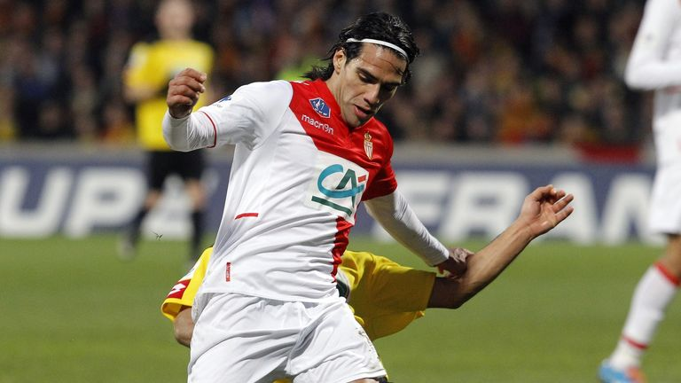 Radamel Falcao: Monaco striker injured in this tackle by Soner Ertek