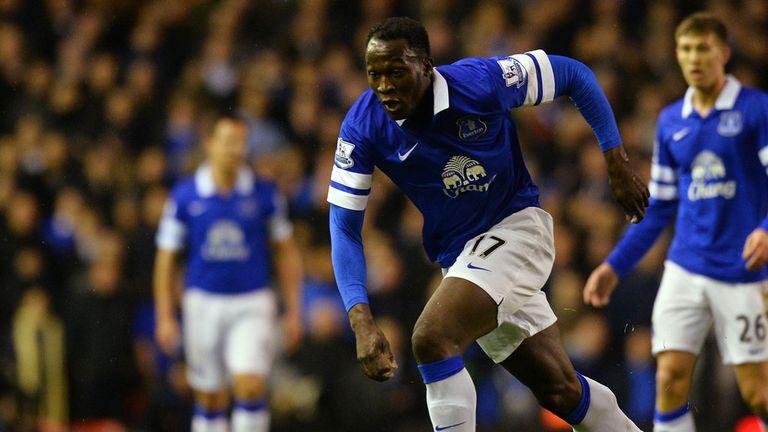 Romelu Lukaku: Stretchered off early in the Merseyside derby