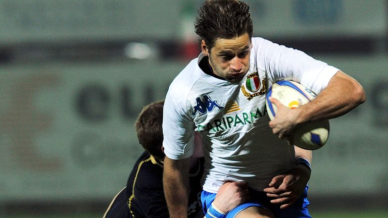 Angelo Esposito, pictured in U20 action, will make his senior debut for Italy in Cardiff