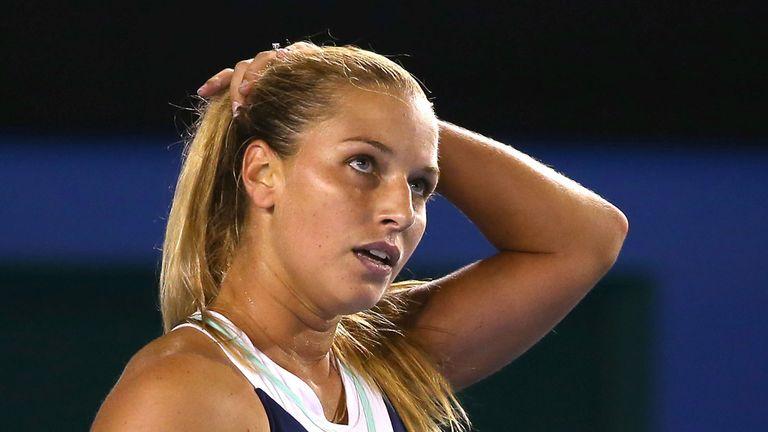 Dominika Cibulkova: Retired early from her match against Alisa Kleybanova