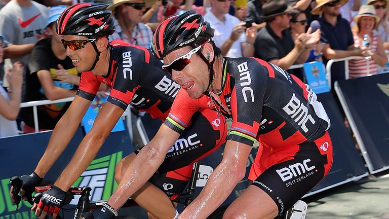 Cadel Evans: Takes an early advantage over his GC rivals