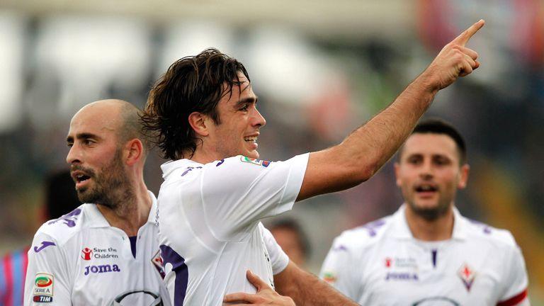 Alessandro Matri celebrates his first goal