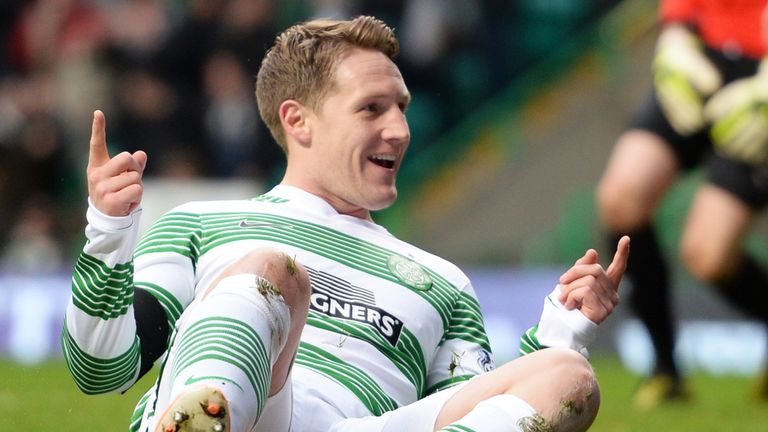 Kris Commons: First-half double for Celtic against Motherwell