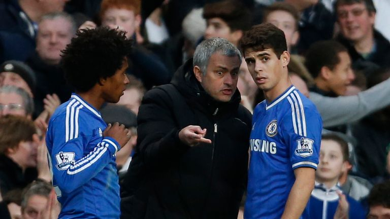 Jose Mourinho used Oscar and Willian for Chelsea in responsible roles high up the pitch