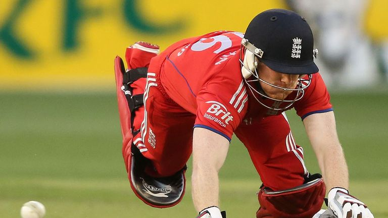 Eoin Morgan: Out for a golden duck against Sussex