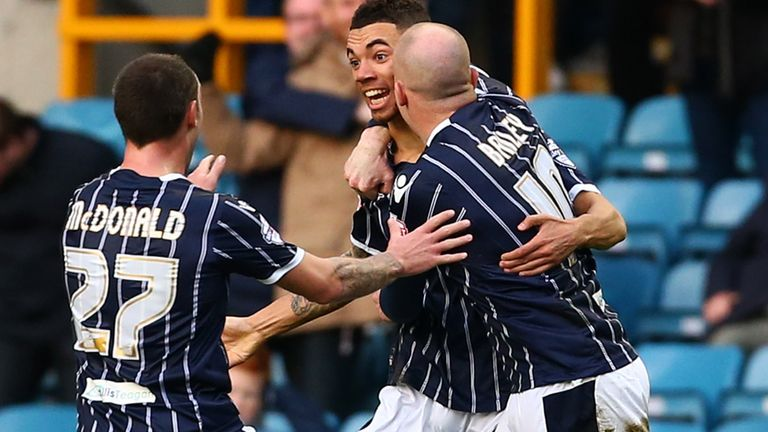Ryan Fredericks (c): Celebrates his goal