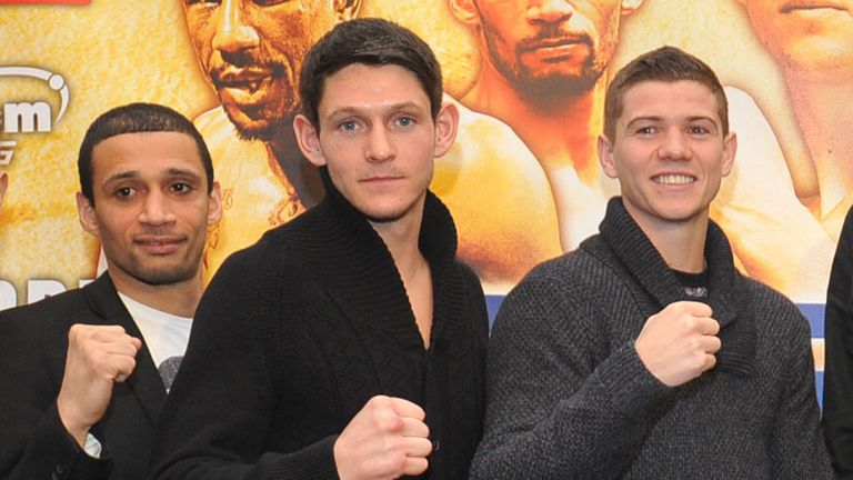 Gavin McDonnell (centre) will appear alongside Luke Campbell (R) in Hull next month