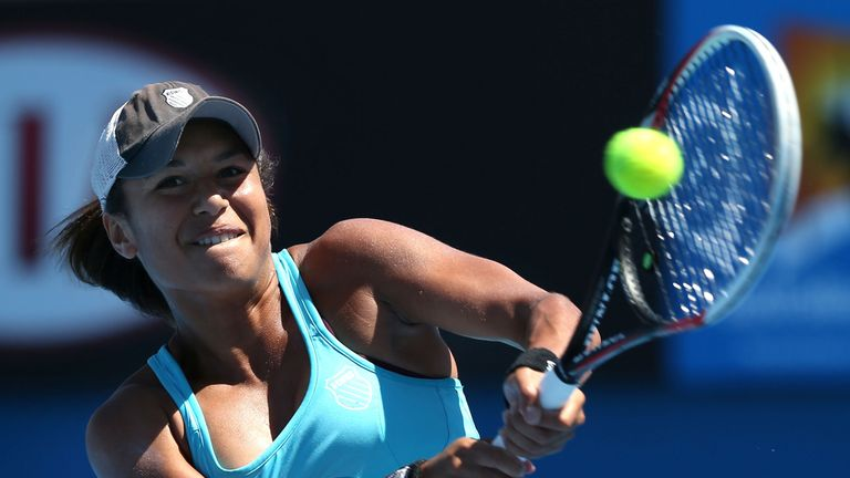 Heather Watson: Beat Virginie Razzano in straight-sets on Monday