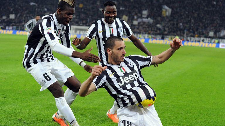 Leonardo Bonucci: Celebrates his goal for Juventus