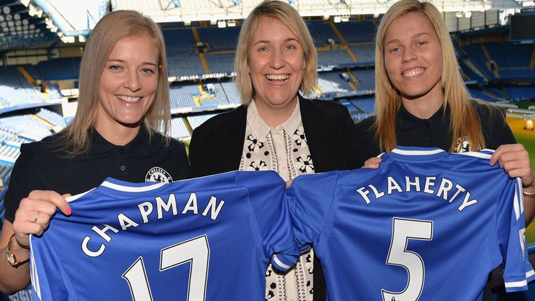 Katie Chapman signed for Chelsea in January 2014.