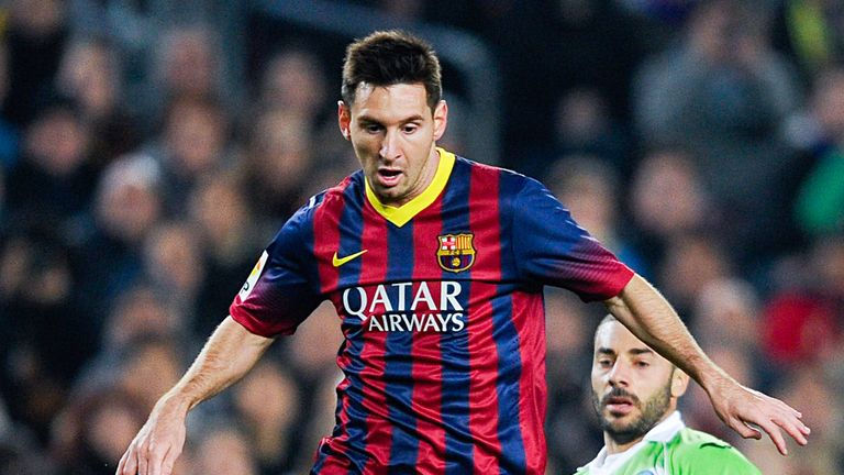 Lionel Messi: Back in competitive action for Barcelona