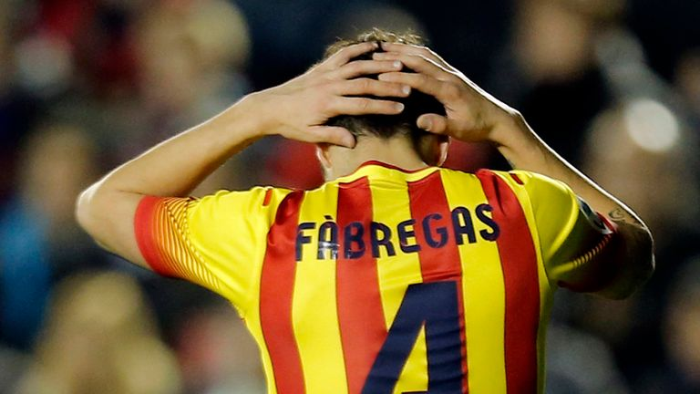 Cesc Fabregas: Exited Barcelona this summer just three years after his dream move home