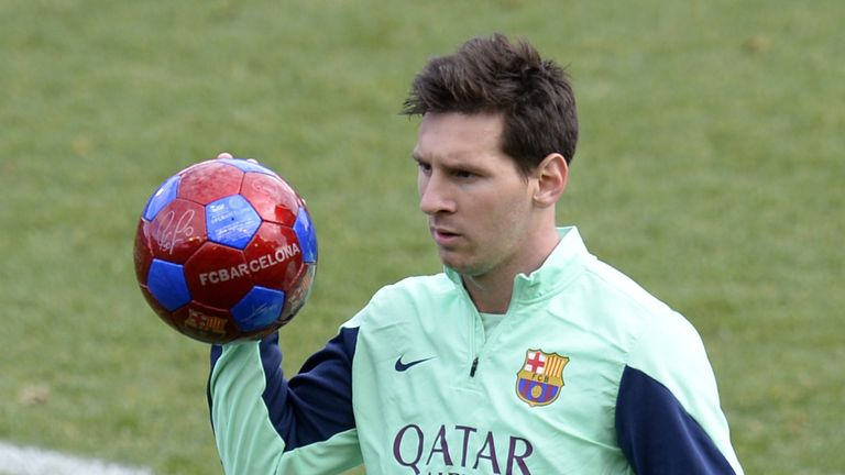 Lionel Messi: Has been out of action for two weeks