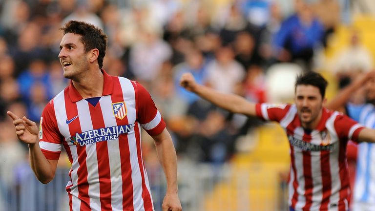 Koke: a key man for Atletico in their game with Barcelona.