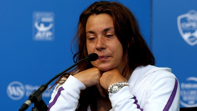 Marion Bartoli announces her retirement in Ohio last August