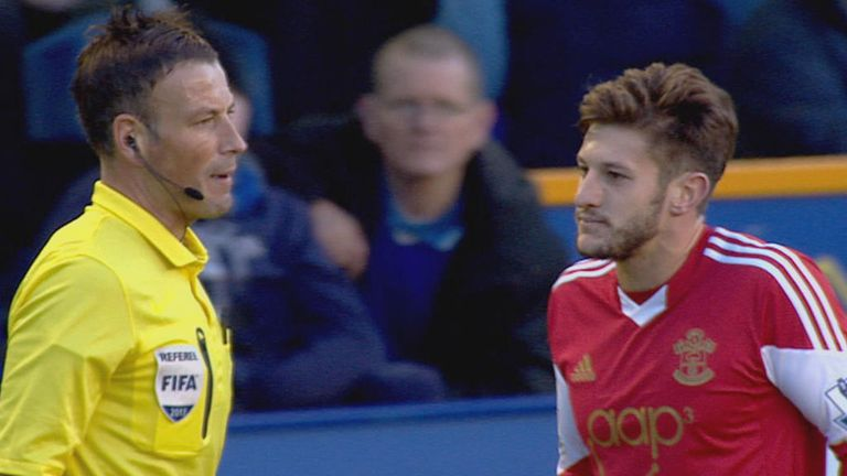 Mark Clattenburg speaks with Adam Lallana last weekend