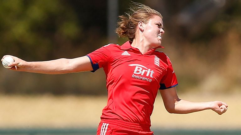 Natalie Sciver is chipping in with some valuable overs with the ball