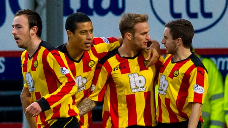 Partick: Celebrate Kallum Higginbotham's acrobatic early opener